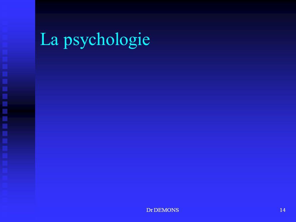 La psychologie Dr DEMONS