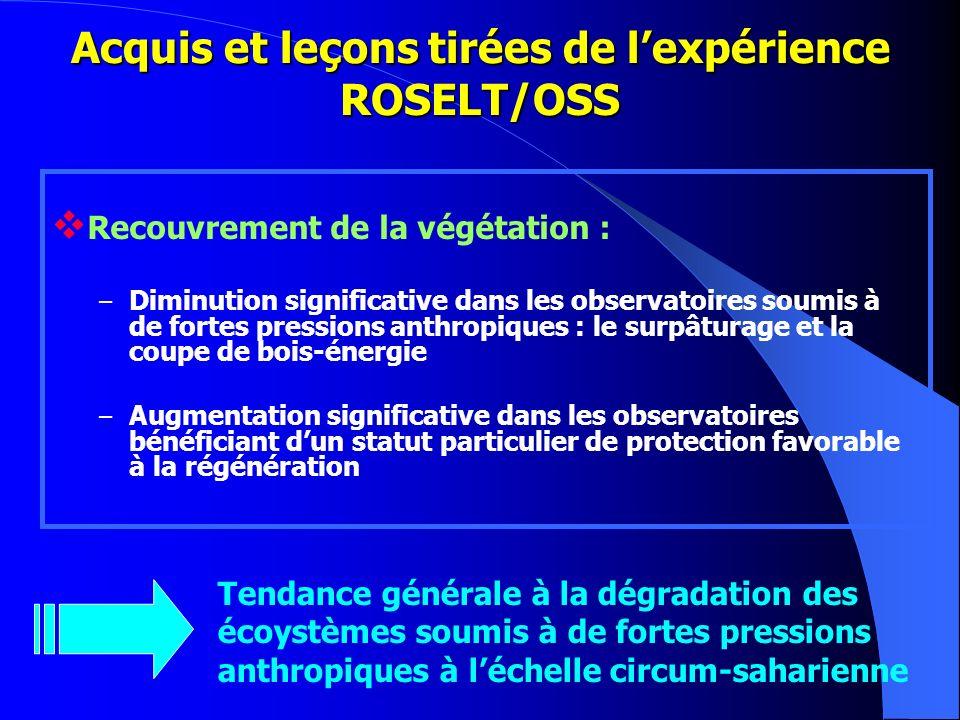 Acquis et leçons tirées de l'expérience ROSELT/OSS