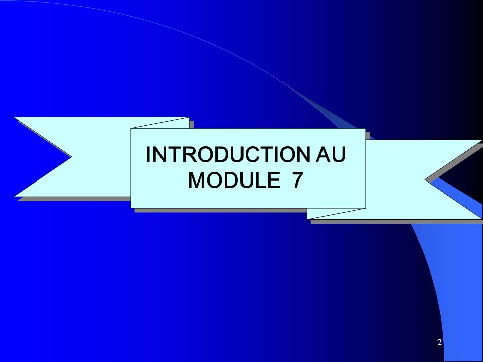 INTRODUCTION AU MODULE 7