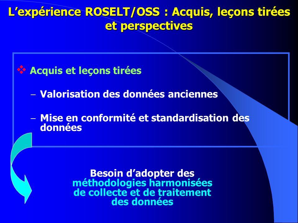 L'expérience ROSELT/OSS : Acquis, leçons tirées et perspectives