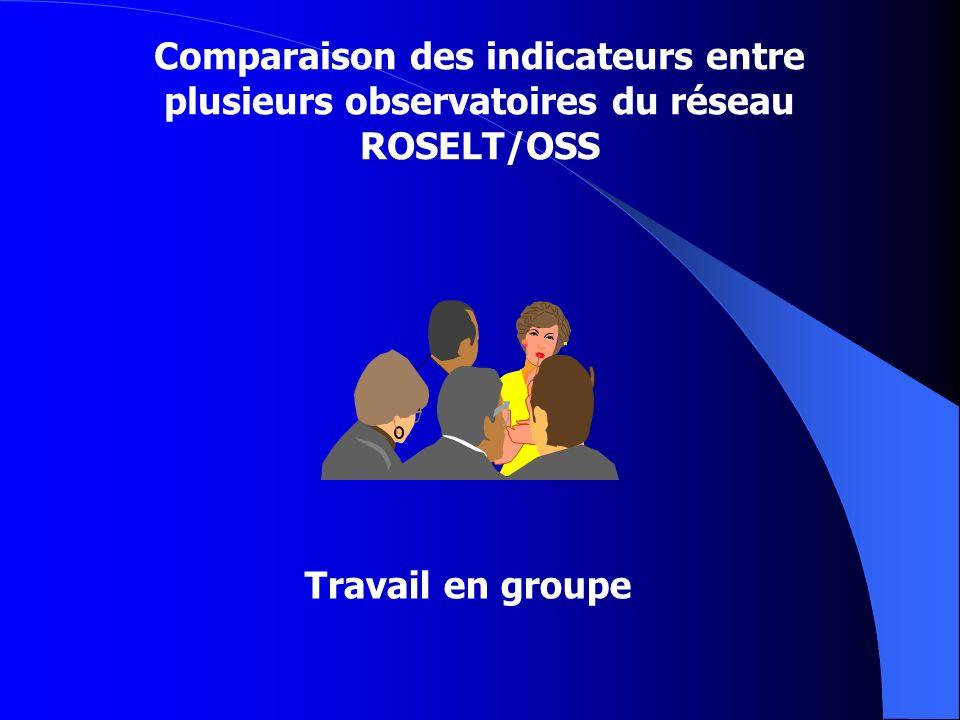 Comparaison des indicateurs entre plusieurs observatoires du réseau ROSELT/OSS