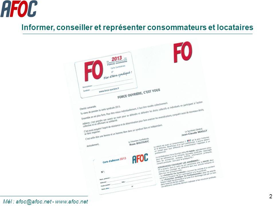 Informer, conseiller et représenter consommateurs et locataires