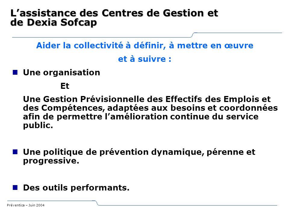 L'assistance des Centres de Gestion et de Dexia Sofcap