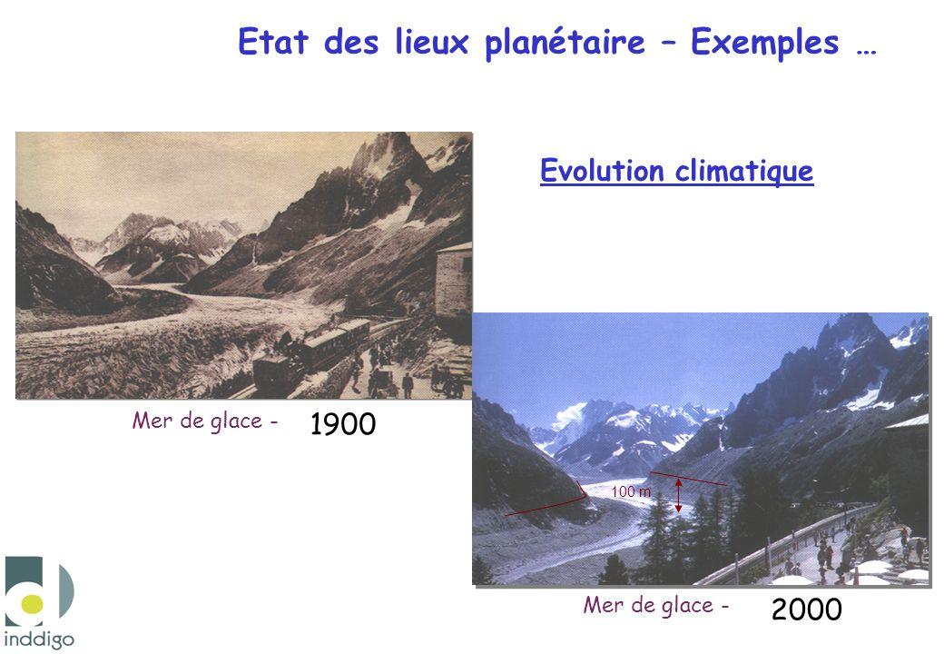 Etat des lieux planétaire – Exemples …