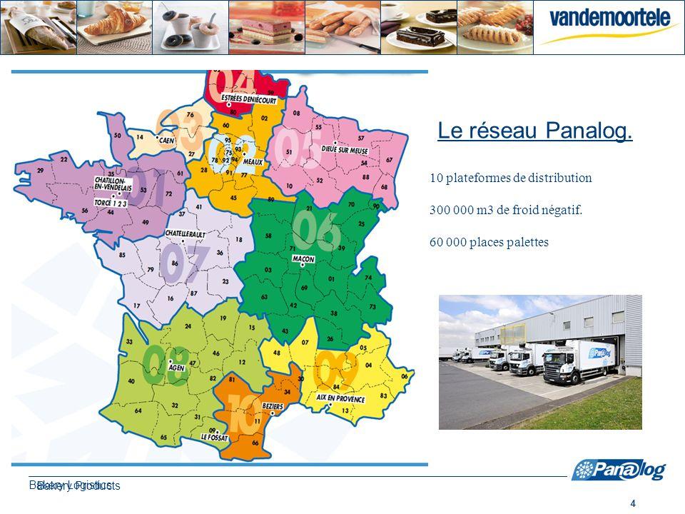 Le réseau Panalog. 10 plateformes de distribution