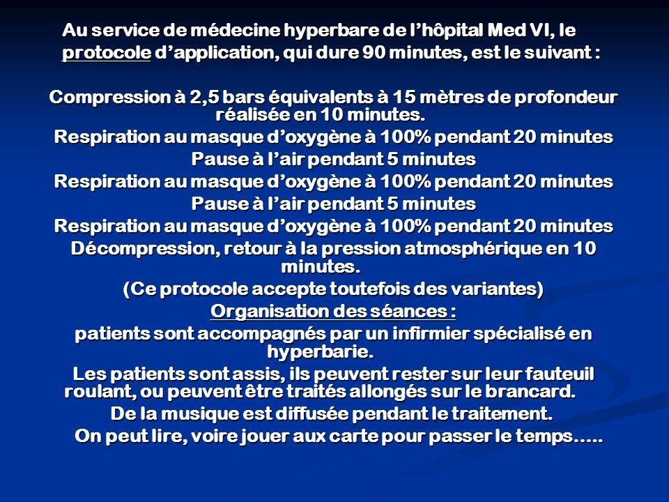 Au service de médecine hyperbare de l'hôpital Med VI, le