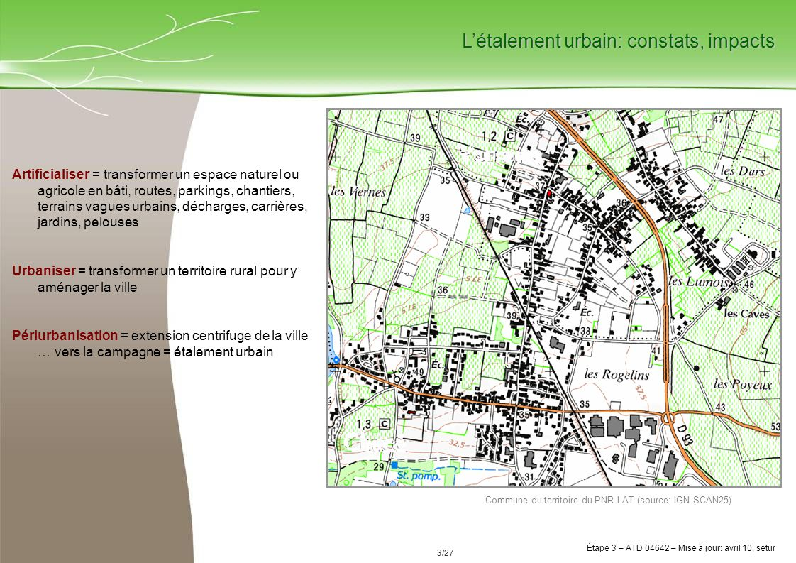 L'étalement urbain: constats, impacts