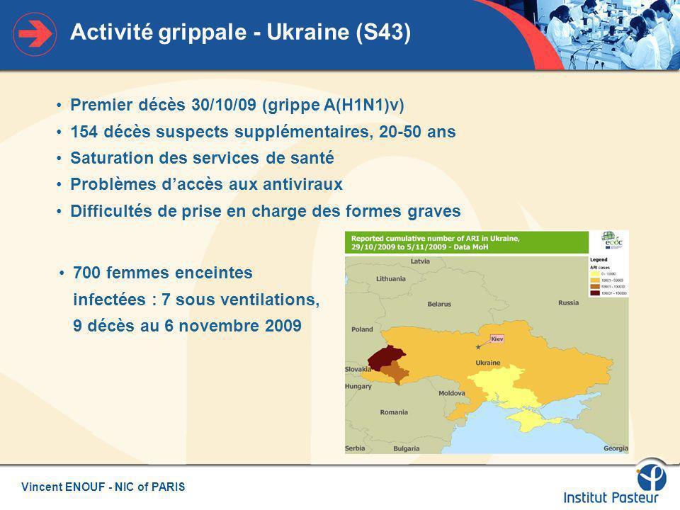 Activité grippale - Ukraine (S43)