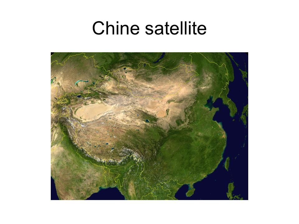 Chine satellite