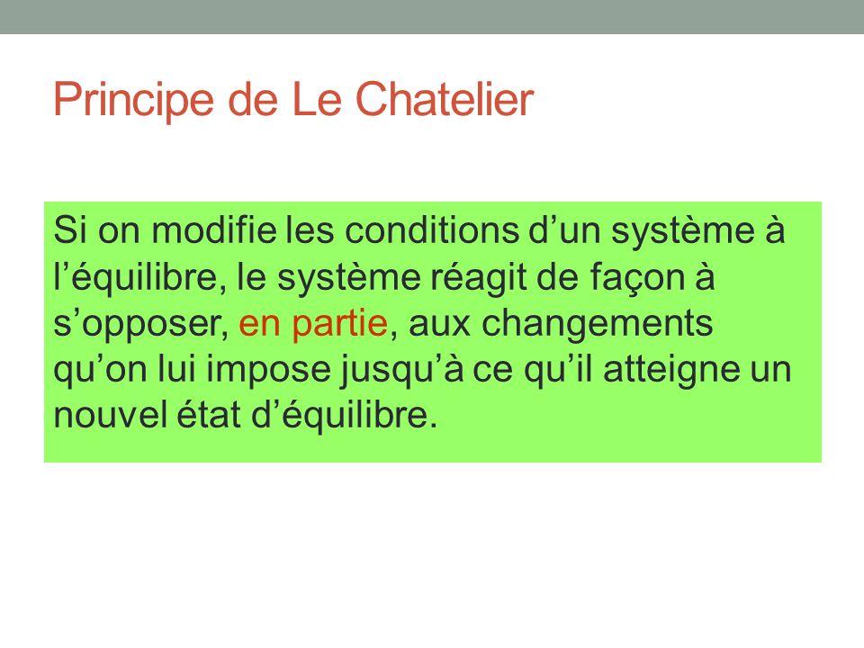 Principe de Le Chatelier