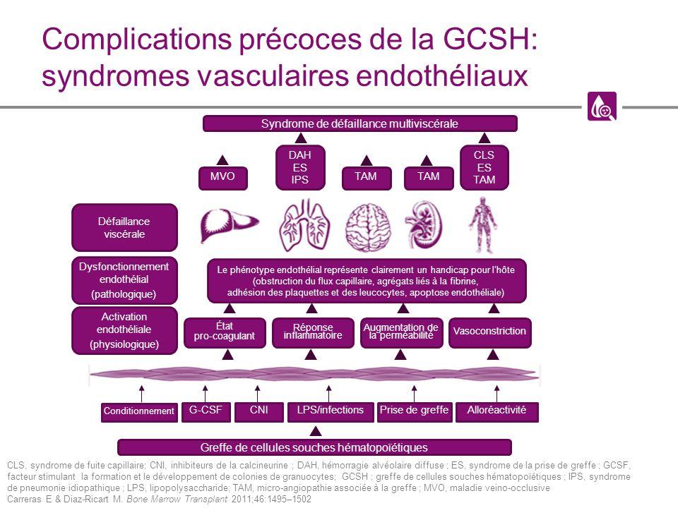 Complications précoces de la GCSH: syndromes vasculaires endothéliaux