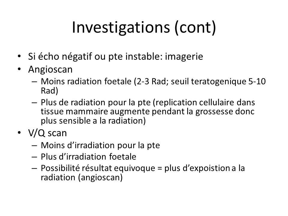 Investigations (cont)