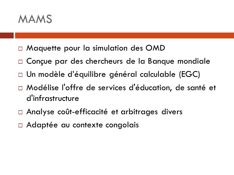 MAMS Maquette pour la simulation des OMD