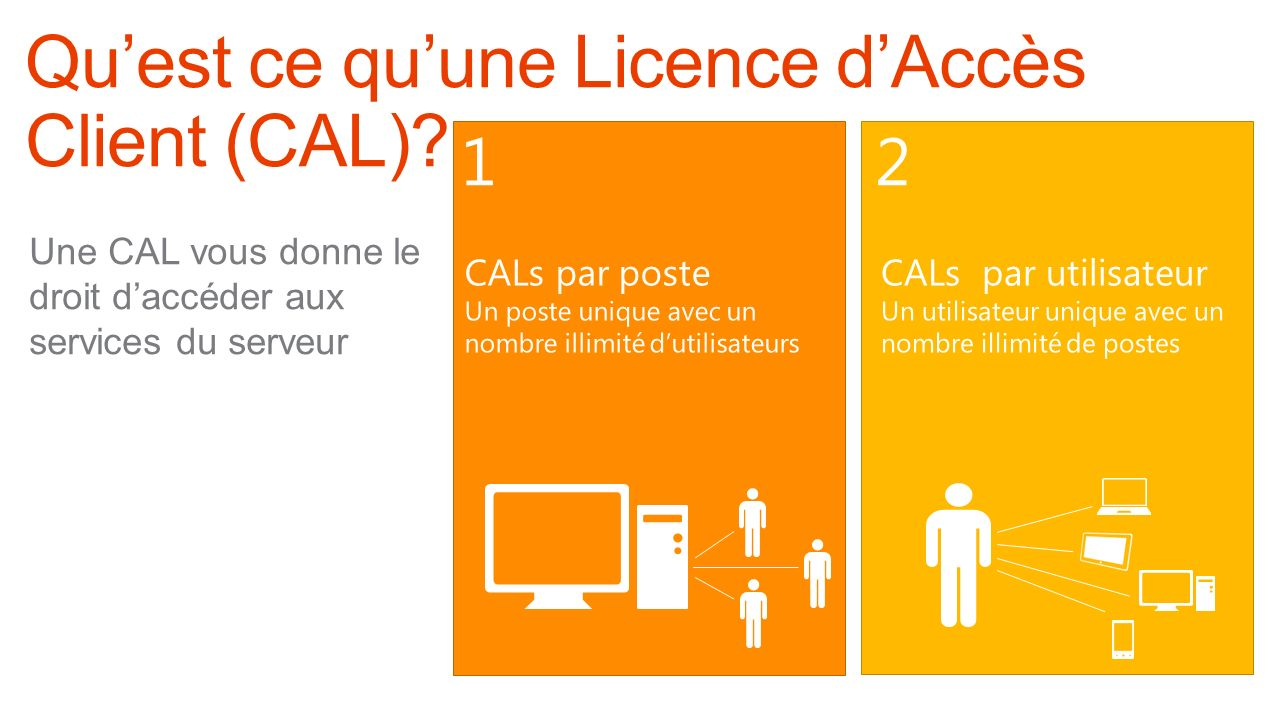 Qu'est ce qu'une Licence d'Accès Client (CAL)