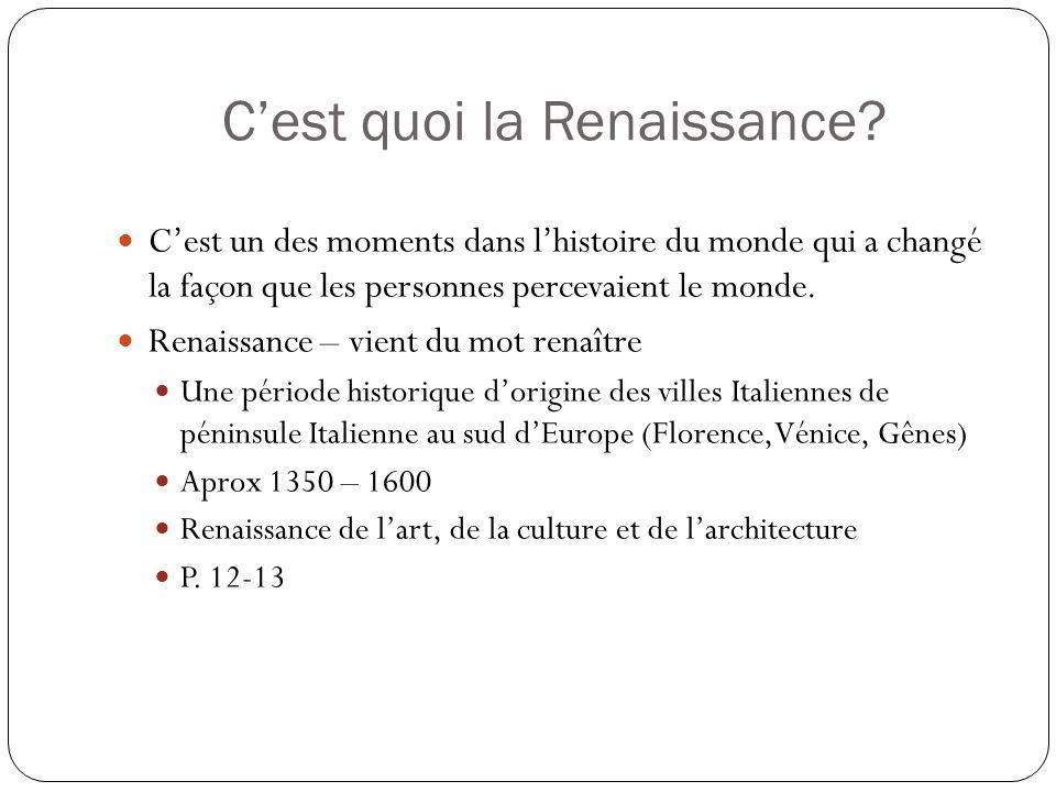 C'est quoi la Renaissance
