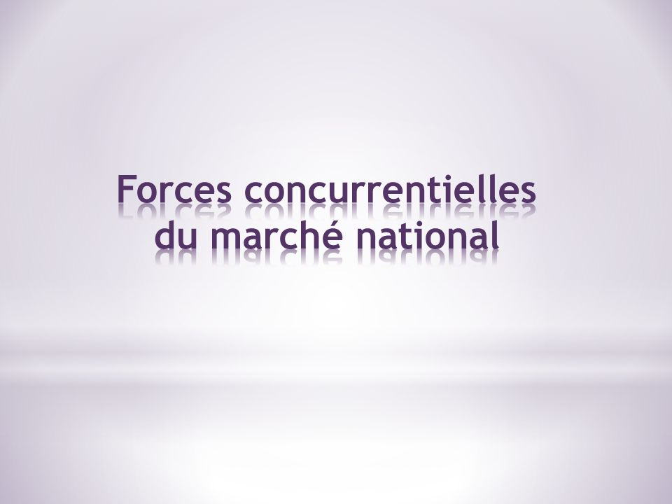 Forces concurrentielles du marché national