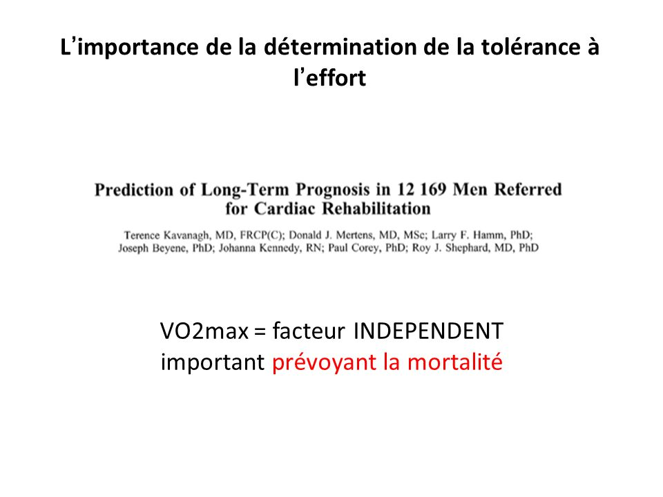 L'importance de la détermination de la tolérance à l'effort