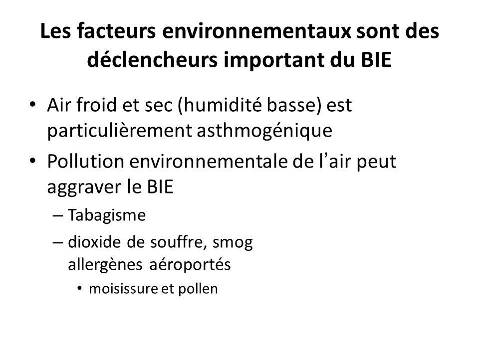 Les facteurs environnementaux sont des déclencheurs important du BIE
