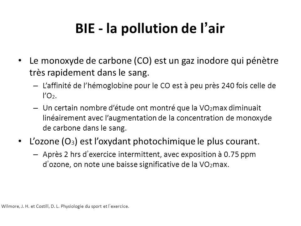 BIE - la pollution de l'air