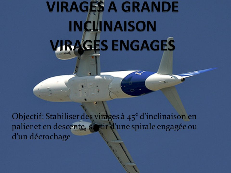 VIRAGES A GRANDE INCLINAISON VIRAGES ENGAGES