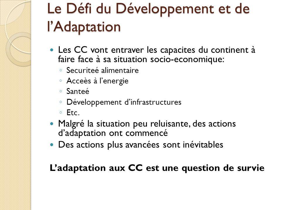 Le Défi du Développement et de l'Adaptation