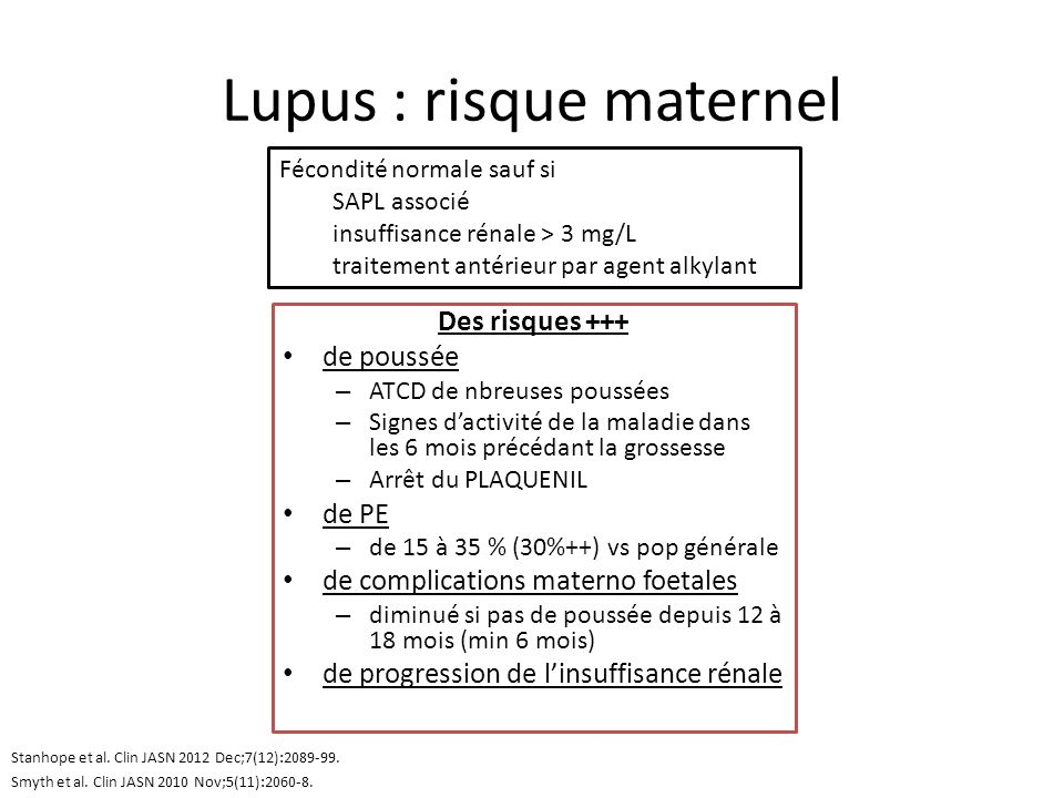 Lupus : risque maternel