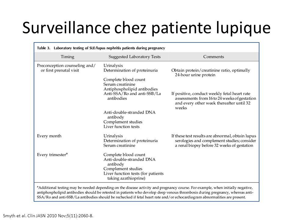 Surveillance chez patiente lupique