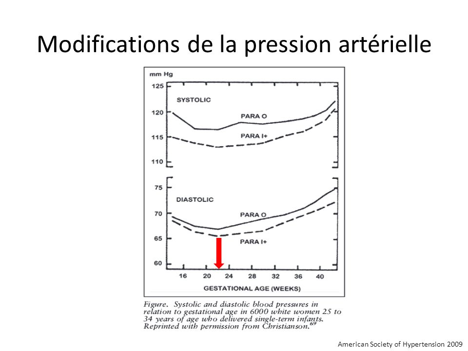 Modifications de la pression artérielle