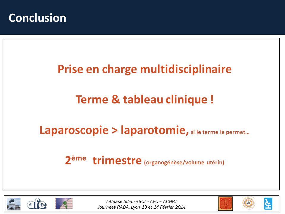 Prise en charge multidisciplinaire Terme & tableau clinique !