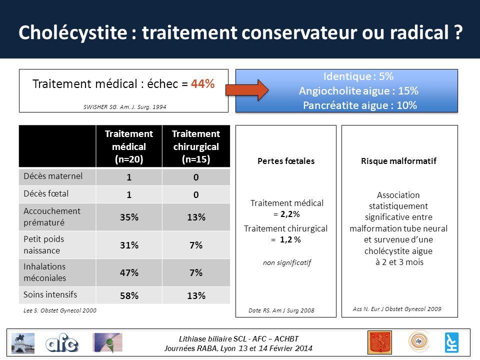 Cholécystite : traitement conservateur ou radical