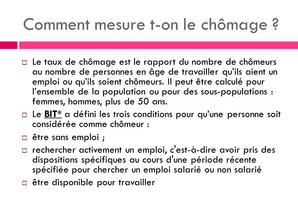 Comment mesure t-on le chômage