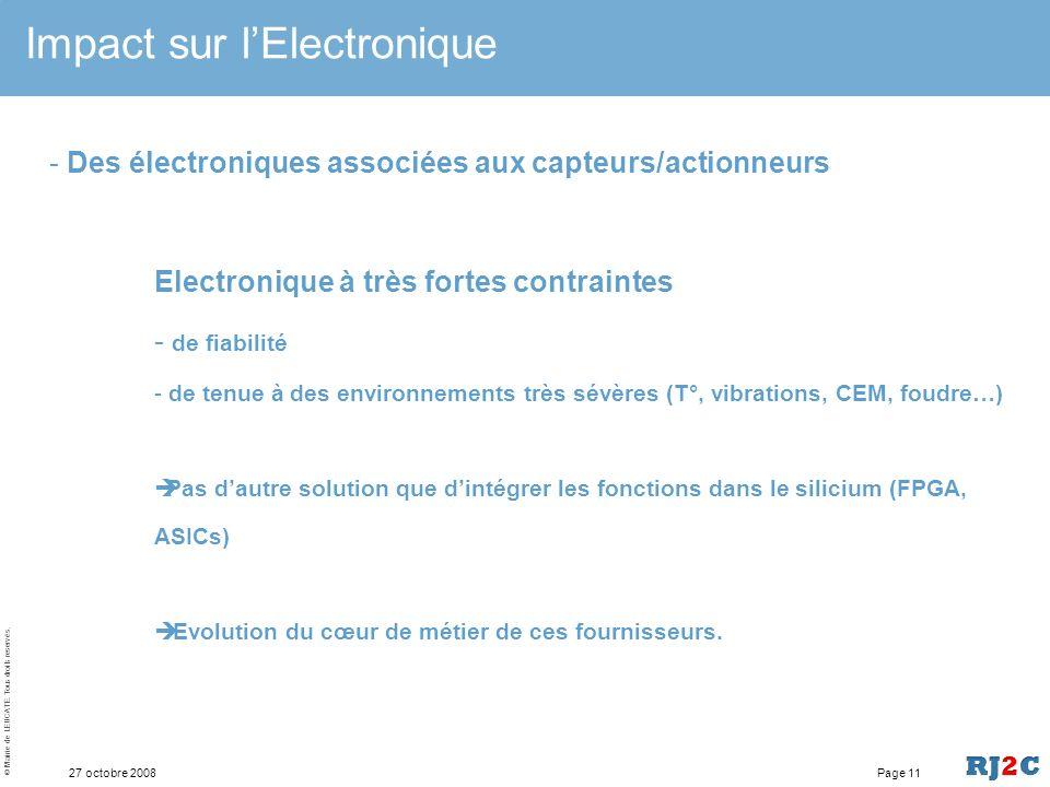 Impact sur l'Electronique