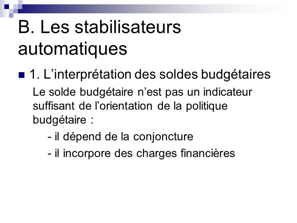 B. Les stabilisateurs automatiques