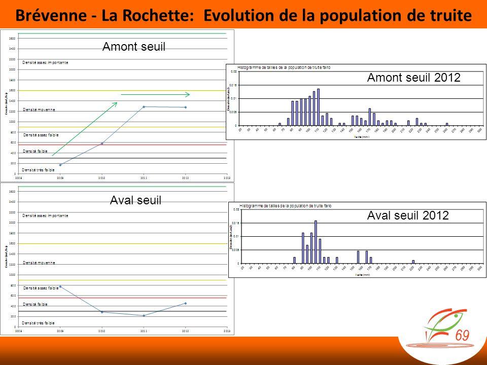 Brévenne - La Rochette: Evolution de la population de truite