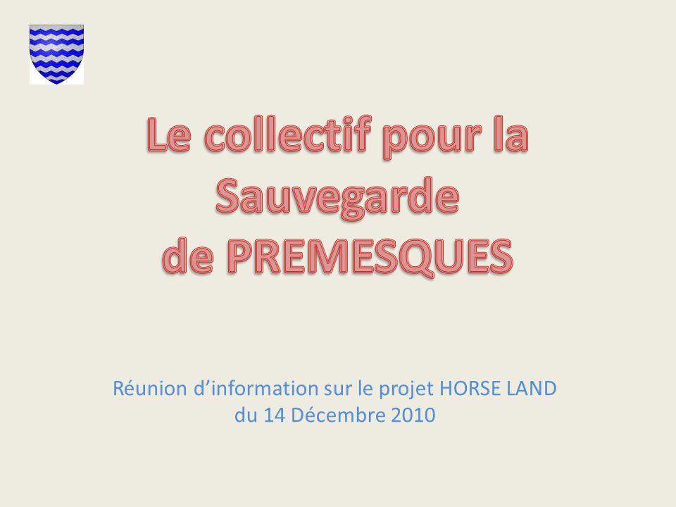Réunion d'information sur le projet HORSE LAND du 14 Décembre 2010