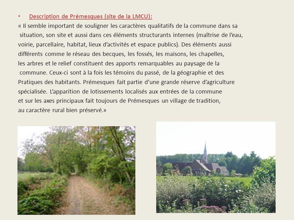 Description de Prémesques (site de la LMCU):