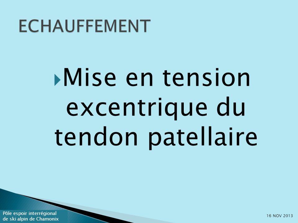 Mise en tension excentrique du tendon patellaire