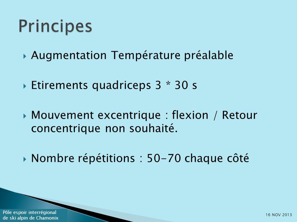 Principes Augmentation Température préalable