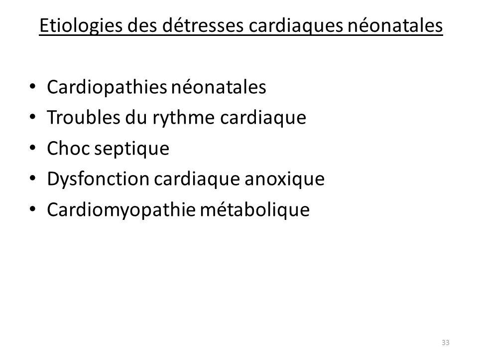 Etiologies des détresses cardiaques néonatales