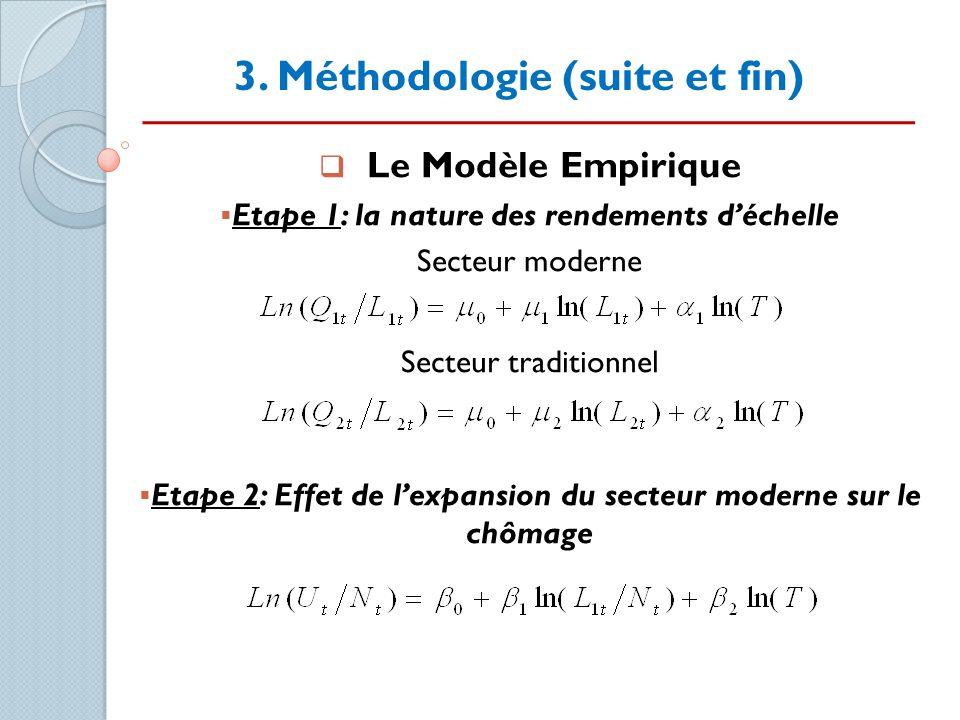 3. Méthodologie (suite et fin)