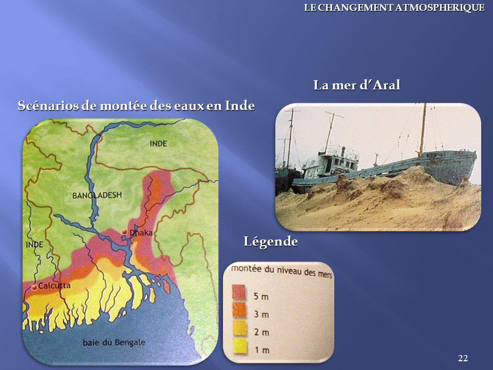 Scénarios de montée des eaux en Inde