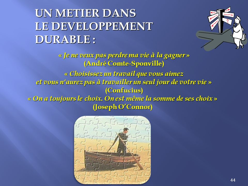 LE DEVELOPPEMENT DURABLE :