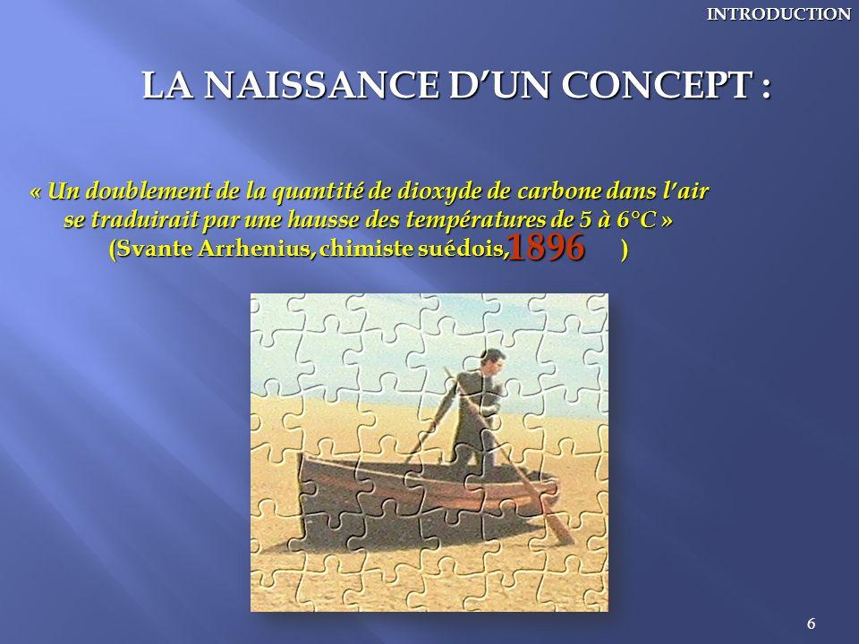 LA NAISSANCE D'UN CONCEPT :