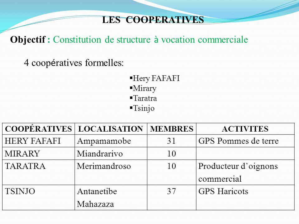 Objectif : Constitution de structure à vocation commerciale