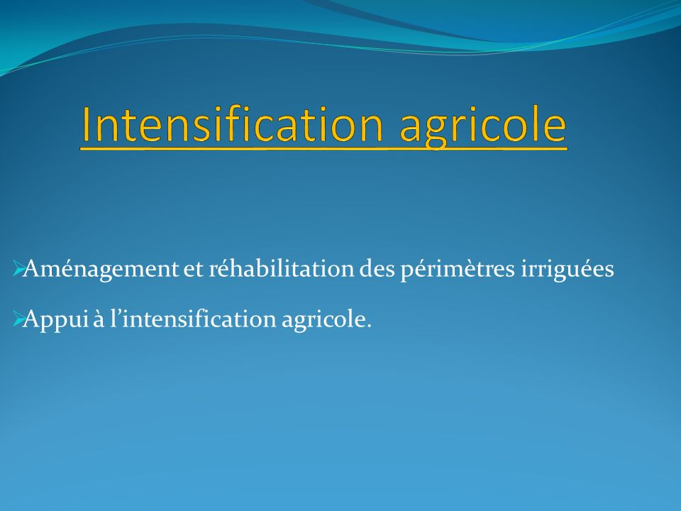 Intensification agricole