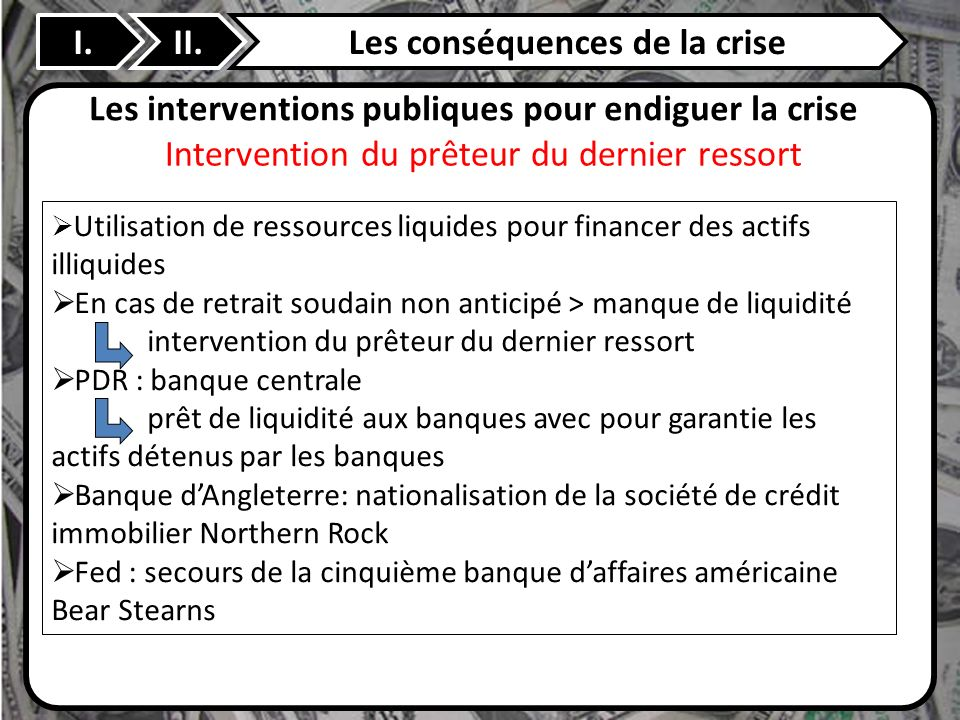 Les conséquences de la crise