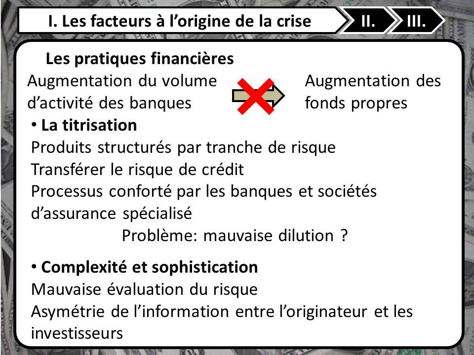 I. Les facteurs à l'origine de la crise