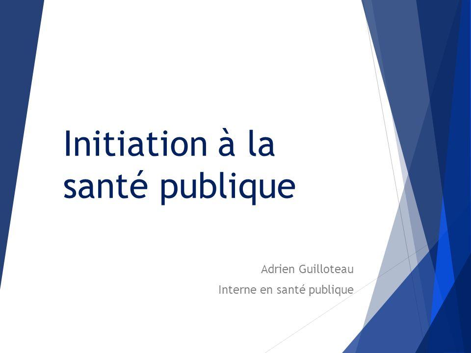 Initiation à la santé publique