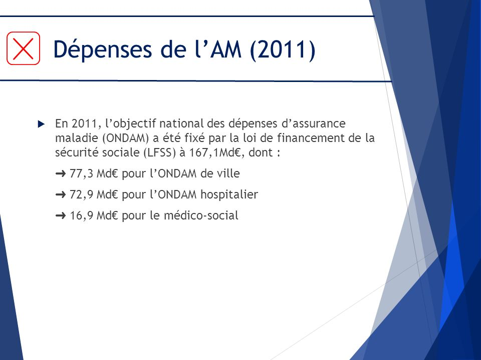 Dépenses de l'AM (2011)