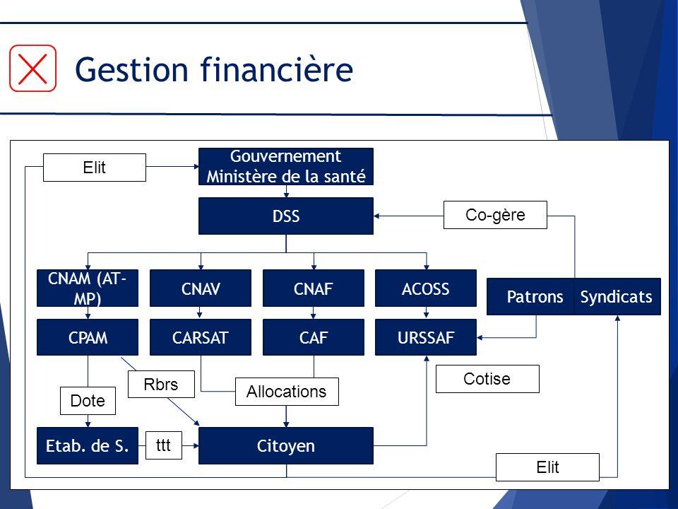 Gestion financière Gouvernement Ministère de la santé Elit DSS Co-gère